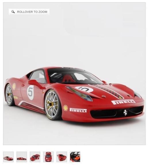 Ferrari 458 Challenge a handmade